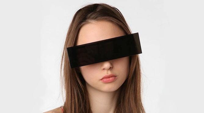 Unkenntlichkeitsbalkenbrille