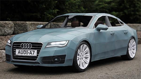 Audi A7 aus Papier