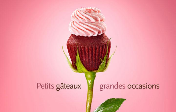 Süße Cupcake-Werbung