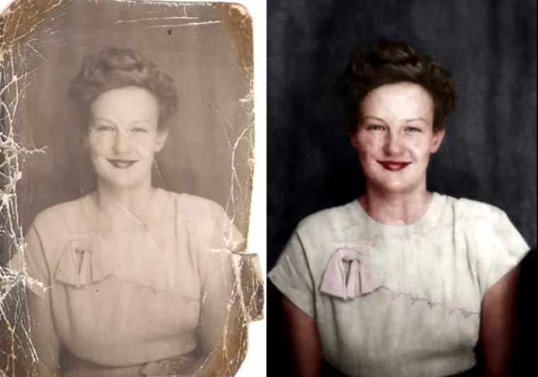Restauration eines alten Fotos