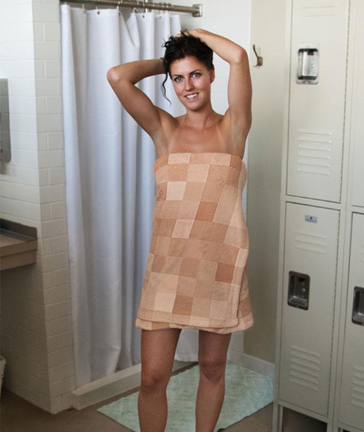 Das verpixelnde Handtuch