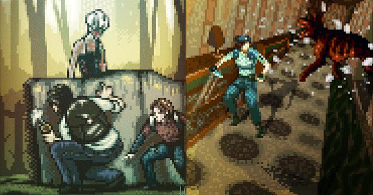 pixelige Videospielkunst