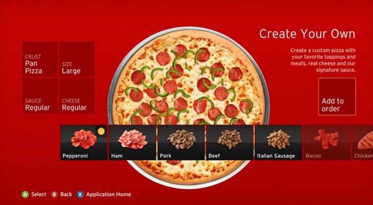 Pizza bestellen per Kinect