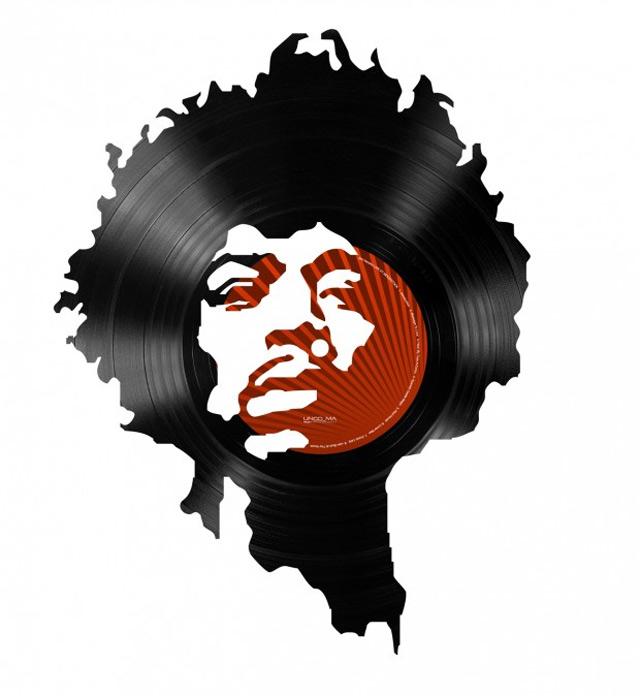 Schallplatten-Portraits von Idolen der Musikgeschnichte