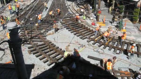 Schienenbaustellen-Timelapse