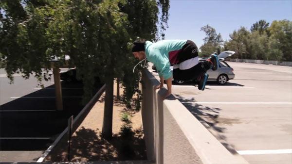 Parkour auf Inline-Skates