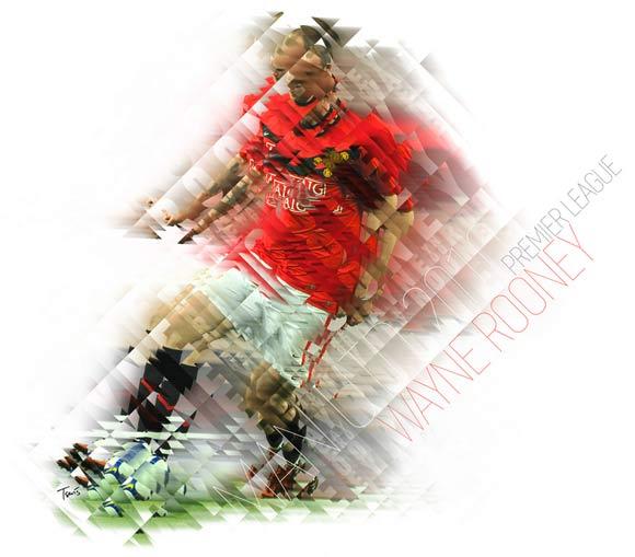 Wayne Rooney neo-cubisised