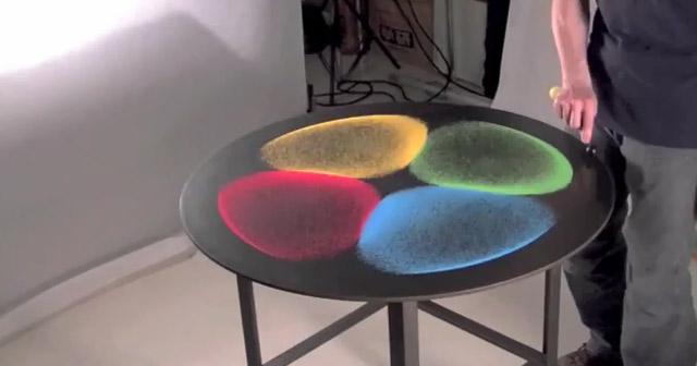 Vibrations-Sandmuster-Kunst