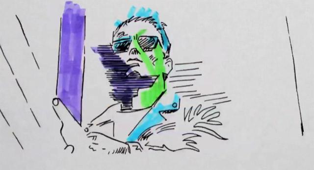 Dreifacher Schwarzenegger in Farbe