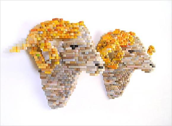 3D-Pixelskulpturen: Shawn Smith
