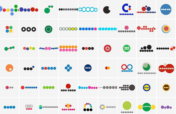 Stark minimalistische Logos