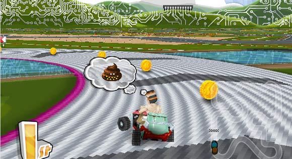 Mario Kart mit Scheiße