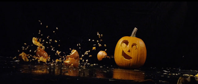 Smashing pumpkins in slowmotion