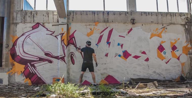 Graffiti-Timelapse: Sofles – Infinite