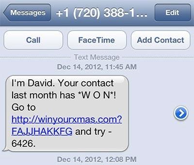 Die perfekte Antwort auf eine Spam-SMS