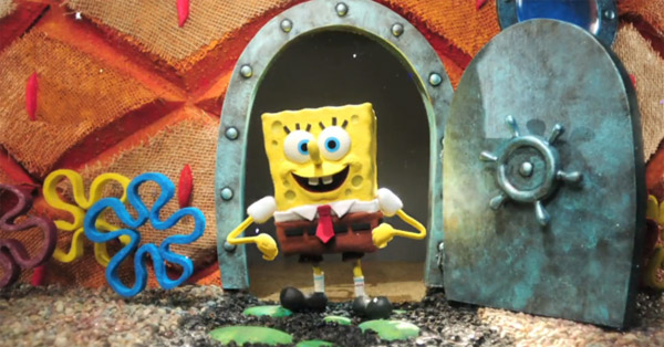 Spongebob-Intro in Stopmotion nachgebaut