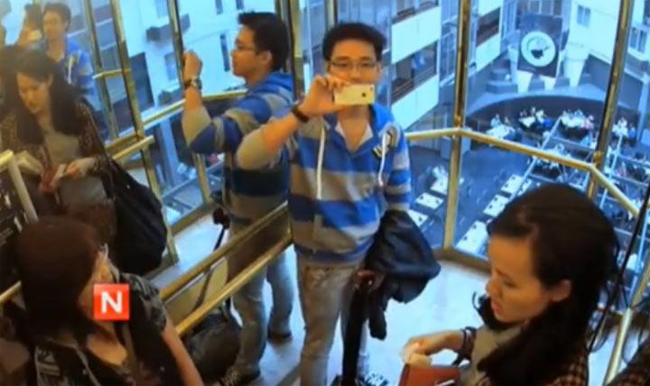 Streich: der sprachgesteuerte Fahrstuhl
