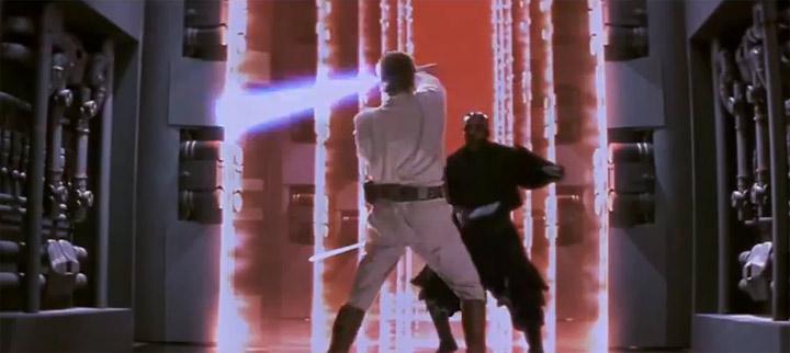 Lichtschwertkampf-Fail in Phantom Menace