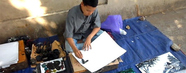 Straßenmaler in Myanmar
