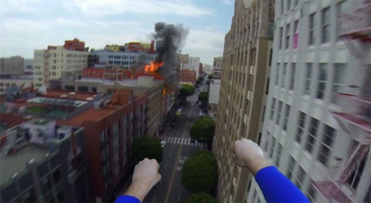 Superman GoPro-POV-Video