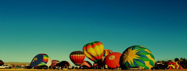 Timelapse: Heißluftballon-Massenstart