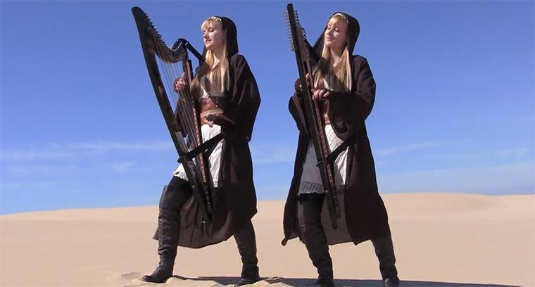 Star Wars-Medley auf der Zwillingsharfe