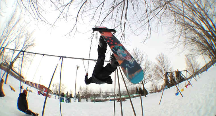 Unkonservative Snowboard-Tricks