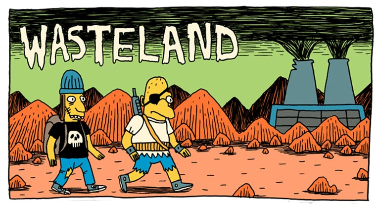 Comic: postapokalyptische Simpsons – Wasteland