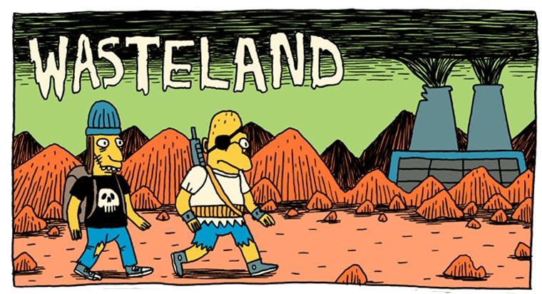 Comic: postapokalyptische Simpsons – Wasteland