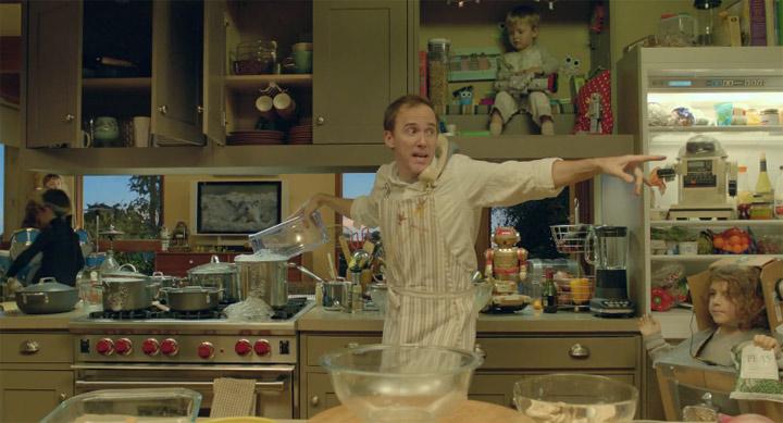 Küchenchaos eines alleinerziehenden Vaters