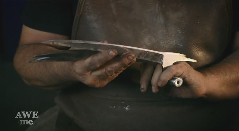 Wolverines Krallen nachgeschmiedet
