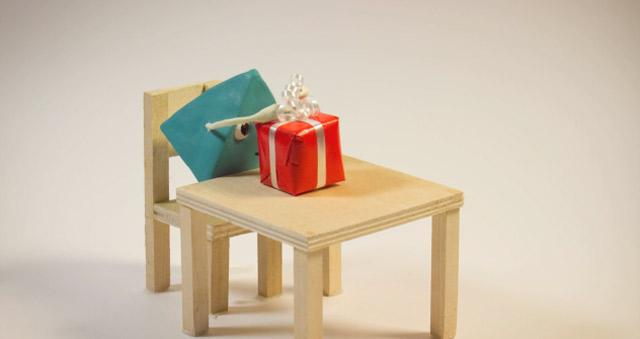 Animierte Animation: Geschenke schenken