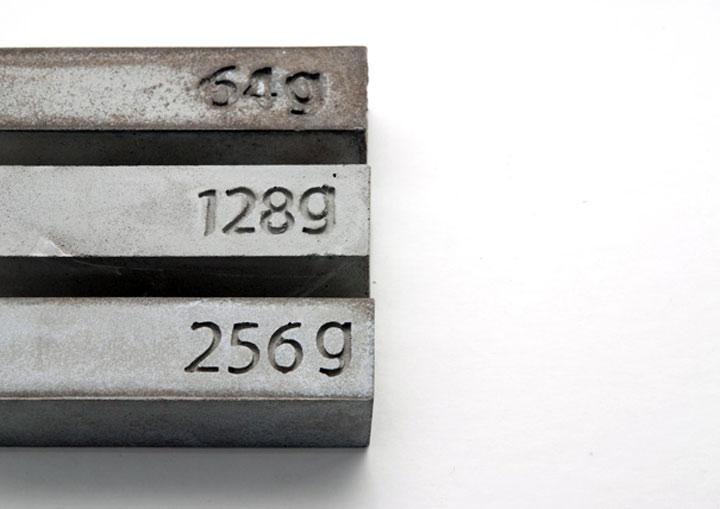 Beton-USB-Sticks: Gewicht = Speicher