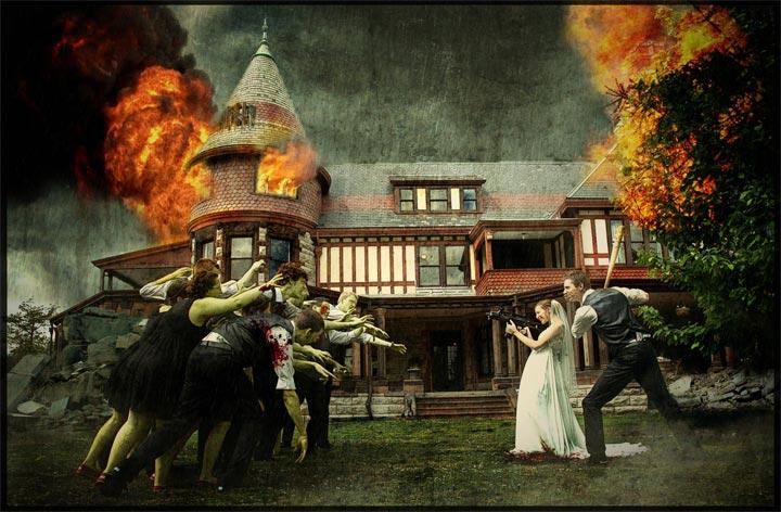 Zombie-Hochzeitsgäste: Making of-Timelapse