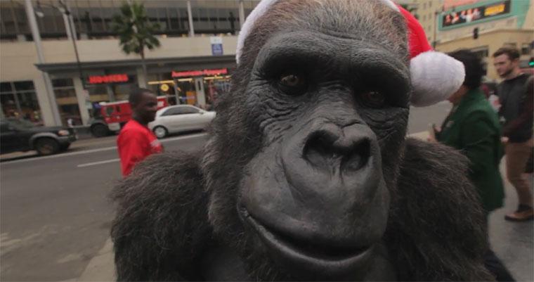 lebensechte steuerbare Gorillanachbildung