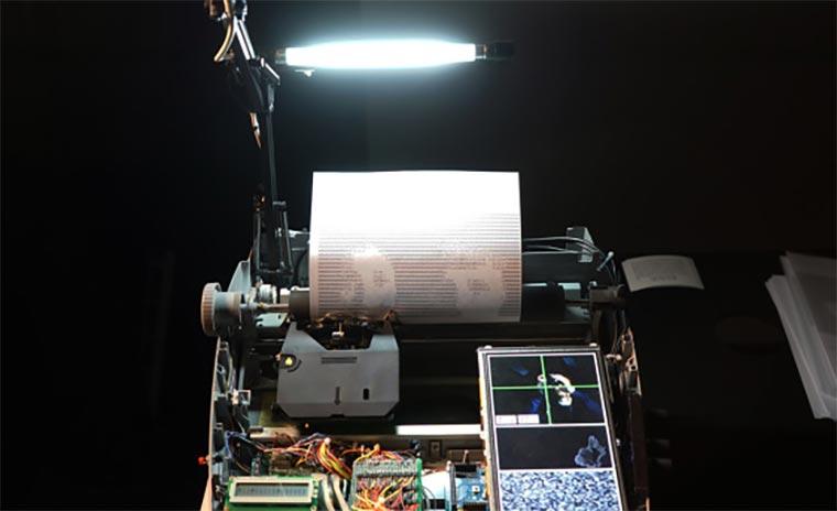 Schreibmaschinen-Selfie-Drucker