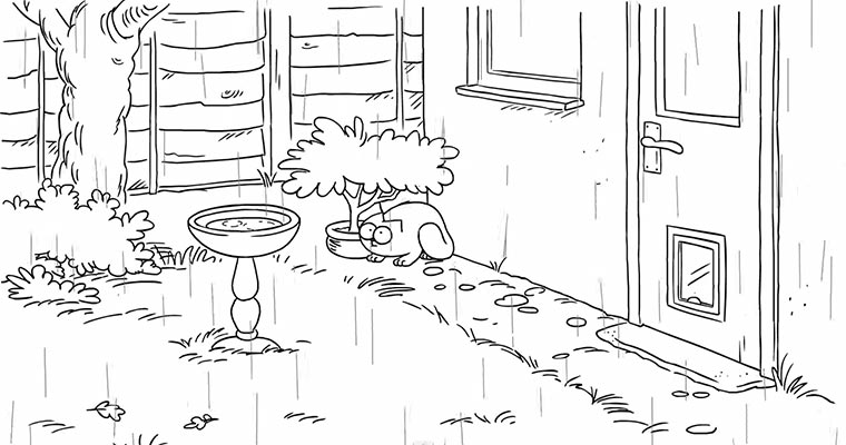Simon's Cat – April Showers
