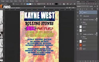 Festival-Plakat-Photoshop