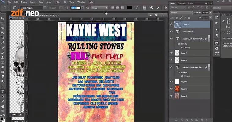 Wer designed eigentlich Festival-Plakate? Festival-Plakat-Photoshop