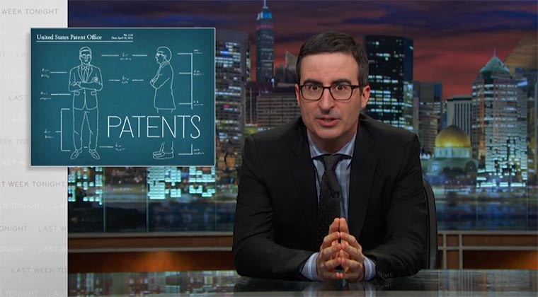 Last Week Tonight: Patents