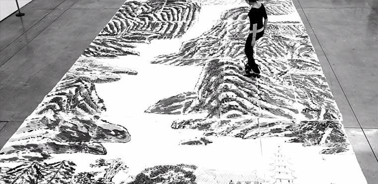 Mit Inline Skates Landschaften malen Landskating