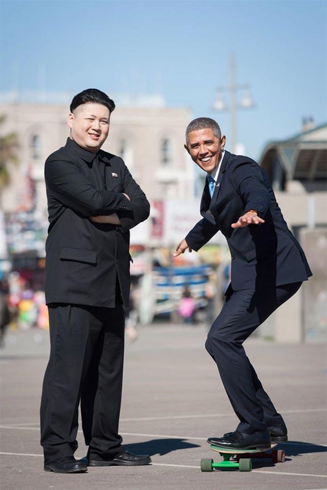 Wenn ein Obama-Imitator auf einen Kim Jong Un-Imitator trifft Obama-kim-jong-un_02