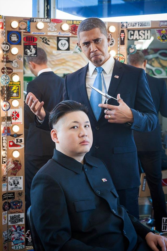 Wenn ein Obama-Imitator auf einen Kim Jong Un-Imitator trifft Obama-kim-jong-un_04