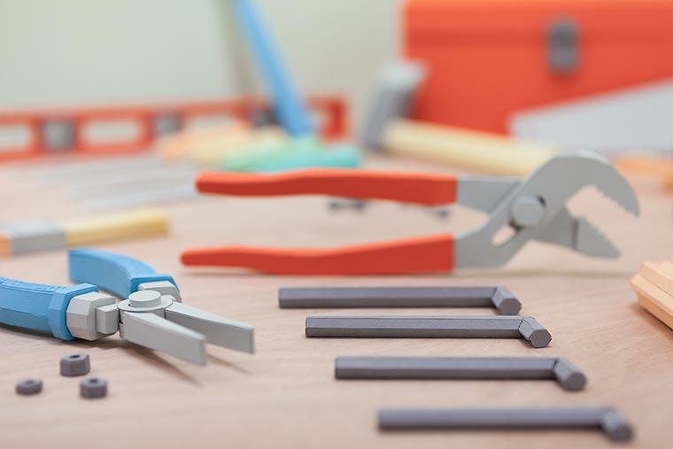 Kompletter Werkzeugkasten aus Papier Paper-Toolbox_03