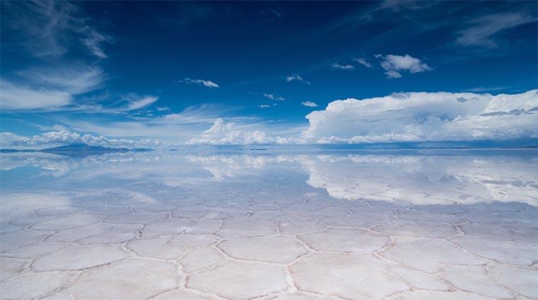 Timelapse: Salz-See-Spiegelungen