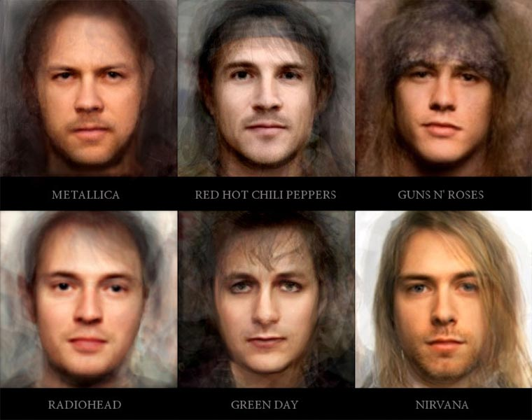 Rockbands zu einer Person gemorpht faces-of-rock_01