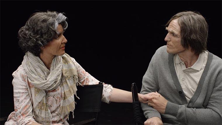 Paar wird älter und älter geschminkt 100-years-of-aging