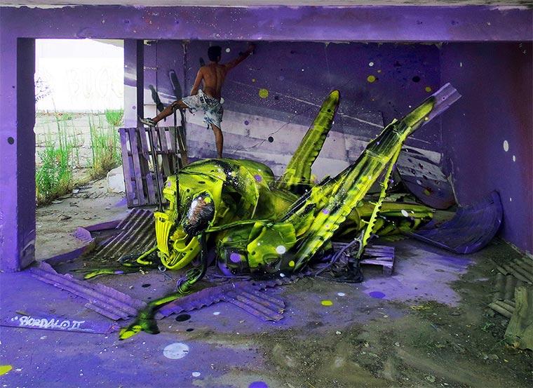 3D-Murals aus bemaltem Müll Bordalo-II_08