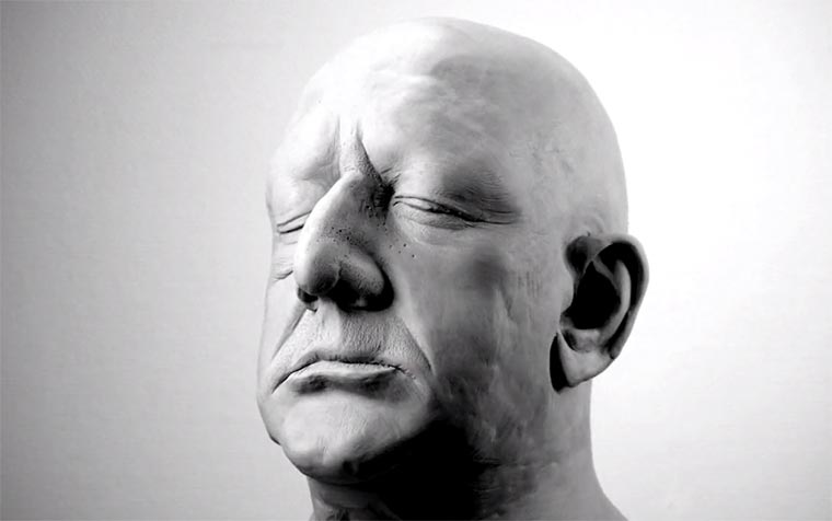 Kaputter Knet-Kopf Clayhead