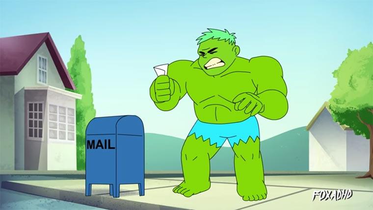 Hulk machen To-Do-Liste Hulk-Run-Errans